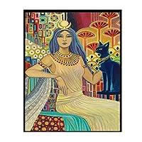 BGGGTD ポスター 北欧のキャンバス絵画ポスター印刷された異教の神話サイケデリックジプシーの女神の写真家の装飾リビングルームモジュラープリント-50x70cmx1フレームなし