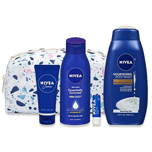 NIVEA Winter Wonders Skin Care Set for Her, 4 Piece Gift Set, 35.67 Fl Oz