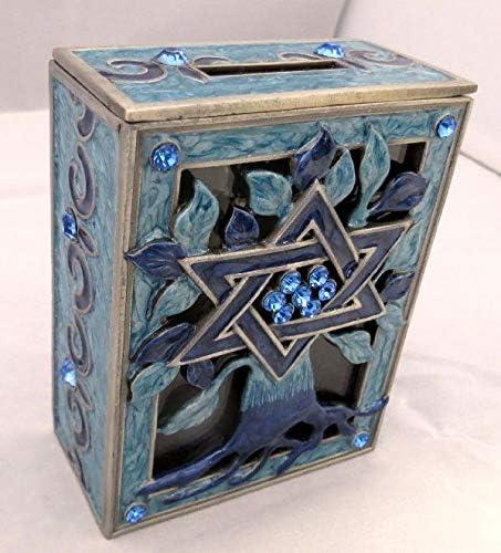 Shuki's Judaica Tree of Life Tzedakah Popular popular Blue Pink Box supreme