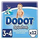 Dodot Splashers Talla 3, 12 Pañales Bañadores Desechables, 6-11kg, No Se Hinchan Y Fácil de quitar