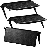 Jetec 3 Pieces Screen Top Shelf TV Top Storage Bracket 2-Leg Adjustable Monitor Top Shelf for Cellphone Stand, Media Boxes, Router, Game Console and Home Decor (11.81 x 4.72 Inches)
