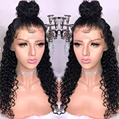 * Best Quality:100% Brazilian Virgin Human Hair Wig, High Quality with Baby Hair around, Bleached Knots and Natural Hairline. * Cap Size:Medium Cap(22-22.5inch) Have Combs and Adjustable Straps * Hair Color:Natural Color,can be dyed any color,permed,...
