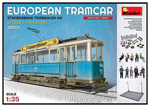 MiniArt 38009 - Modellbausatz European Tramcar Strassenbahn Triebwagen 641 mit Crew und Passengers