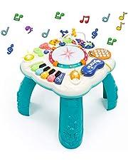 Fajiabao Table Activité Bébé 6 en 1 - Jouet Eveil Table d'Activité Musicale Bebe Table de Jeux Jouet Éducatif Cadeau pour Enfant Fille Garçon 2 3 4 5 Ans