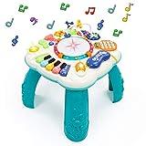 Fajiabao Mesa Actividades Bebe 6 en 1- Juguetes Educativos Bebes Instrumentos Musicales Mesa Interactiva Montessori Bebe con Sonidos y Luces Regalos para Niños Niñas 3 4 5 6 Años