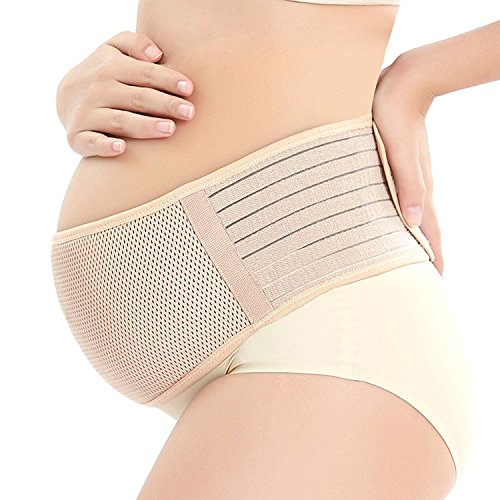 Maternity Support Belt Breathable Pregnancy Belly Band Abdominal Binder Adjustable Back/Pelvic Support- L