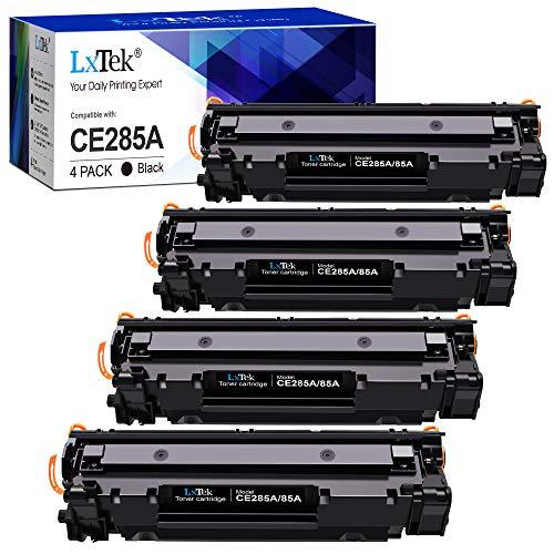 LxTek Compatibile Toner CE285A 85A Sostituzione per HP 85A CE285A per HP LaserJet Pro P1102 P1102W M1212NF M1132 MFP M1217NFW M1132 M1212 M1130 P1100 M1136 M1210 M1210MFP M1134MFP M1134 (4 Nero)