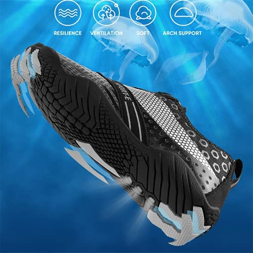 YINI Unisex Swimming Water Shoes Men Barefoot Outdoor Beach Sandals Upstream Aqua Shoes Plus Size Nonslip River Sea Diving Sneakers (Color : 26, Shoe Size : 41)