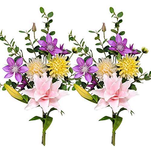 高級仏花 カサブランカ 約60cm 【2束】 枯れないお花 造花 お手入れ不要 お墓 お仏壇 お盆 お彼岸