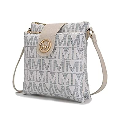 MKF Crossbody Bags for women – Cross body Strap, Messenger Purse – PU Leather Handbag, Womens Fashion Pocketbook White