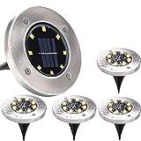 Lámparas solares para jardín al aire libre, 8 LED Luces solares de piso...