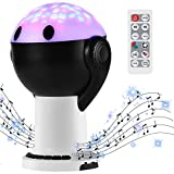 Baby Sleep Sound Machine with Night Light Projector, Portable Kids White Noise Machine with Remote Control Bluetooth Timer, Nursery Sound Soother Noise Maker with 15 Soothing Ocean Rain Nature Sounds