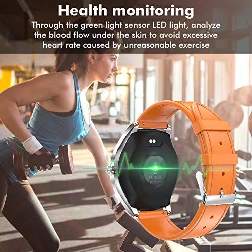 Padgene Smartwatch Reloj Inteligente IP68 Impermeable Bluetooth SmartWatch con Múltiples Modos de Deportes, Fitness Tracker, Monitor de Dormir, Notificación de Llamada y Mensaje para Android e iOS miniatura