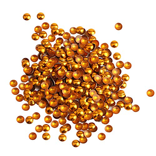 Beadsland Dome Studs Hotfix in Size 6mm,1/3 Round Flat Back Dome Studs with 200pcs (Gold)