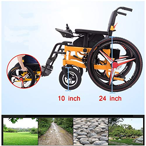 Why Choose TXDWYF Deluxe Electric Wheelchair Folding Power Wheelchair Lightweight Elderly Disabled F...