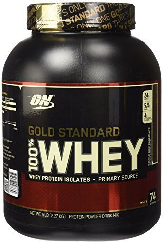 Optimum Nutrition 100% Whey Gold Standard, Double Rich Chocolate, 5 Pound by Optimum Nutrition