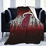 YYSDHRA Sports Miami Basketball He-at Soft Queen Size Blanket All Season Warm Microplush Lightweight Thermal Fleece Blankets for Couch Bed Sofa-50'X40'