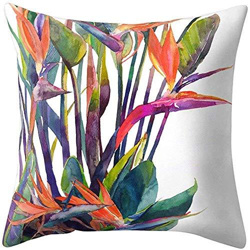 njia Modern Multi kleuren Tropische Bladeren Sofa Bed Kussensloop kussensloop
