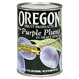 Oregon Fruit Purple Plums, 15-ounces (Pack of8)