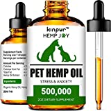 Natural Hemp Oil for Dogs and Cats - Calming and Immunity Support - Made in the USA - Premium Pet Hemp Oil for Mobility, Hip and Joint Health
