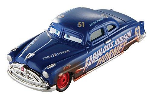 Cars Vehículo Dirt Track Fabulous Hudson Hornet, coche de juguete (Mattel DXV70)