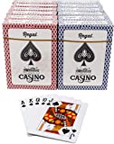 Regal Games Playing Cards 12 Decks, Poker Size Standard Index, Card Deck for Texas Hold'em, Blackjack, Euchre, Canasta, Solitaire, Spades, Hearts 6 Blue and 6 Red