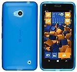 mumbi Hülle kompatibel mit Microsoft Lumia 640 Handy Hülle Handyhülle, transparent blau