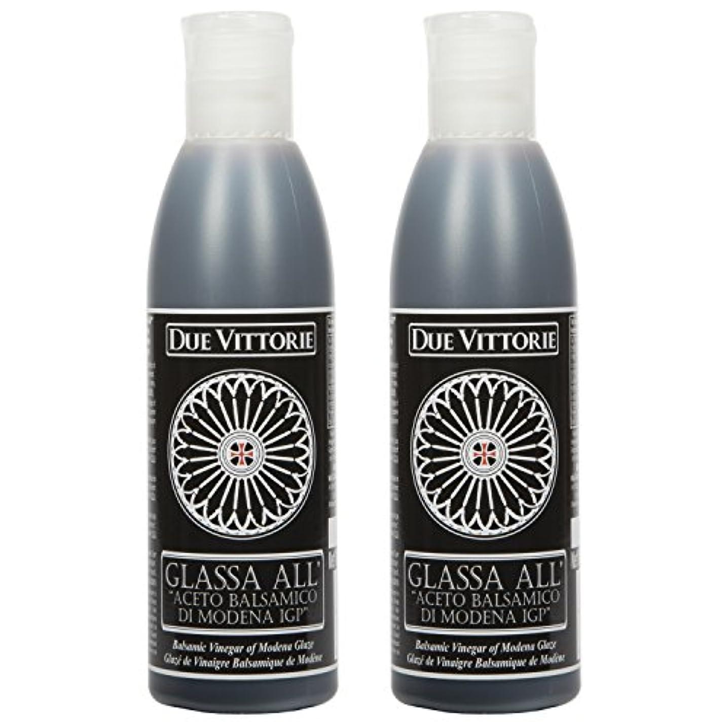 Due Vittorie Italian Balsamic Glaze Crema All Aceto Balsamico Di Modena I.G.P. Gluten Free Balsamic reduction 8.45 oz bottle (2 pack) oplwhvchw