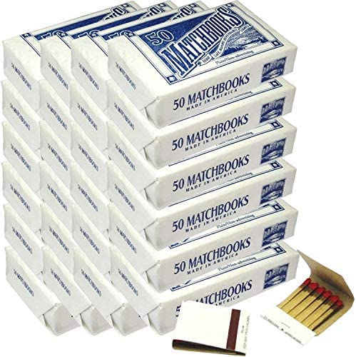 D.D. Bean & Sons 50 Plain White Matches Matchbooks for Wedding Birthday Wholesale Made in America
