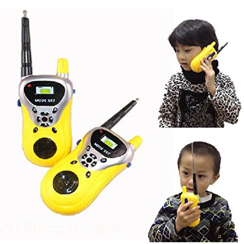 Malloom® 2Pcs Walkie Talkie para niños Juguetes electrónicos portátiles radio de dos vías Set