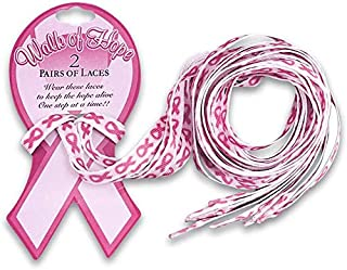 pink shoelaces breast cancer