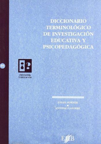 Diccionario terminológico de investigación educativa