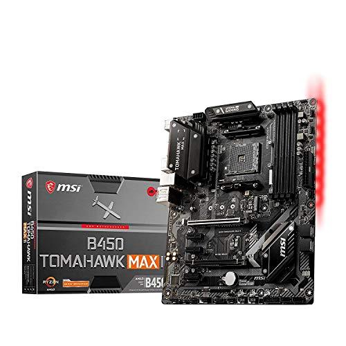 MSI Tomahawk Max II B450 Carte mère Gaming AMD AM4 DDR4 m.2 USB 3.2 Gen 2 HDMI ATX