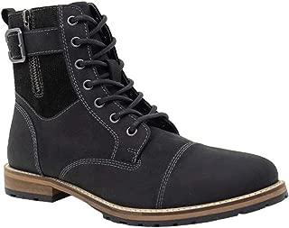 Crevo Mens Silas Casual Boots, Black, 9.5
