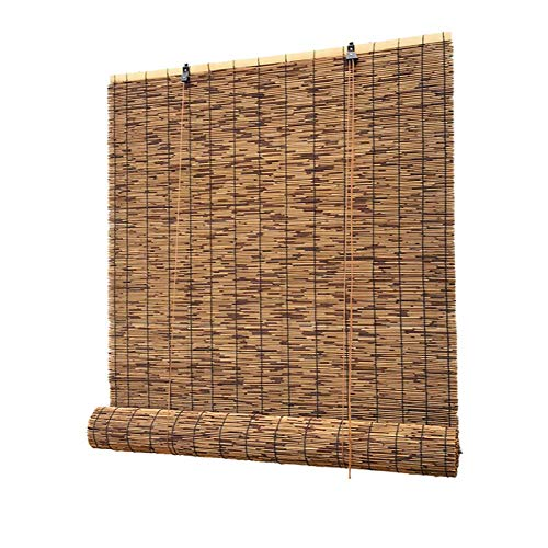Store Enrouleur Bambou,Rideaux en Roseau,Rideau de Paille,Tissés à La Main,Stores à Rouleau Filtrant La Lumière,Cloison de Balcon,Stores Enrouleurs Respirants,Personnalisable (100*120cm 39*47in)