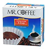Mr.Coffee JR100 4-Cup Coffee Filters, 100-Count - Quantity 1