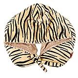 KYSM Almohada en Forma de U Almohada De Cuello Capuchón Siesta Almohada Cervical De Viaje con Almohada De Gorra 30x30cm Rayas de Cebra