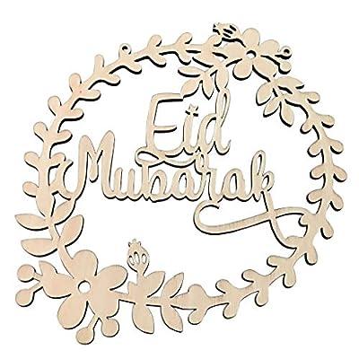 Elaco 5Pcs Ornament Wreath Muslim Happy Eid Mubarak Home Decoration Garland Ornament