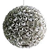 Grey Pearlflower, Ø 32cm, Papierlampe Hängelampe Lampe Lampenschirm Pendellampe Designerlampe...