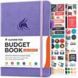 Clever Fox Budget Book 2.0 - Financial Planner Organizer & Expense Tracker Notebook. Money Planner for Monthly Budgeting and Personal Finance. Colored Edition, Compact Size (5.3' x 7.7') - Lavender