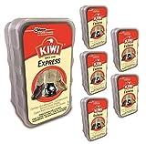 Kiwi Esponja Express Auto Brillante para Calzado y Zapatos de Todos los Colores, Pack de 6