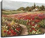 VVBGL Cuadros Decoracion Arte de la Pared del Paisaje de los Campos de álamos de Claude Monet Pintur...