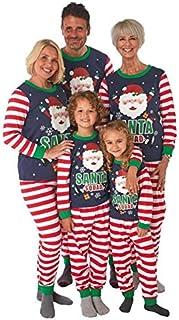 Navidad Pijama Familia para - Madre - Padre - Hija - Hijo - Bebe | Conjunto Dos Piezas Papá Noel Tops de Manga Larga + Pan...