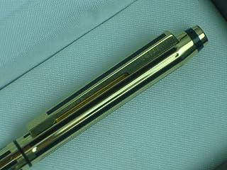 سلسلة كلاسيك سيجنتشر السوداء من كروس مصنوعة في الولايات المتحدة الأمريكية وقلم ذهبي عيار 22 قيراط. 0.5 مم