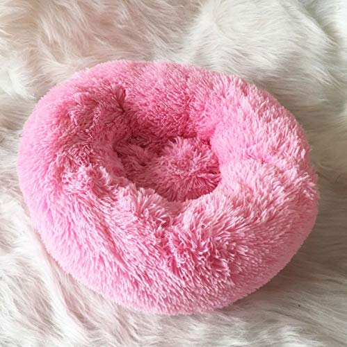 BAJIE Dog round bed,Soft Modern Ultra Soft Warm Pet Bed Puppy Dog Mat Sleeping Cushion Suits For Small Medium pet Padded Bed Bolster Bed (Color : N, Size : 60CM)