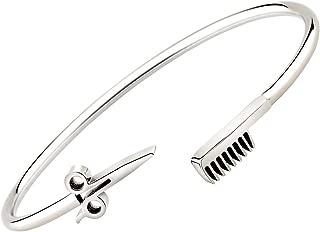 BNQL Hair Stylist Scissor and Comb Bracelet Hair Salon Stylist Thanks Jewelry