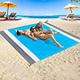Beach Blanket Sandproof Waterproof, Oversized Sand Free Beach Blanket Picnic Blanket, Quick Drying Picnic Mat Outdoor for Travel, Camping, Hiking