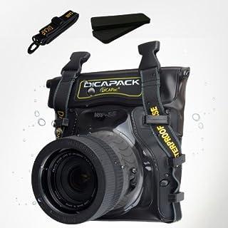 DiCAPacデジタル一眼レフカメラミラーレスRFデジタルカメラ水中スポーツアウトドア防水ケースバッグwp-s5( 8.26X 7.48インチ)ストラップ付き
