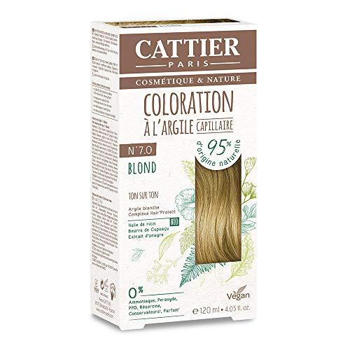 Cattier Kit Coloration Capillaire à l'Argile - N°7.0 Blond