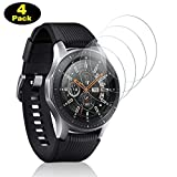 DOSMUNG Panzerglas für Samsung Galaxy Watch 46mm / Gear S3 Frontier/Gear S3 Classic, [4 Pack] Full Cover HD Schutzfolie Bildschirmschutz, 9H Festigkeit, Anti-Kratzer, Anti-Öl, Bläschenfrei